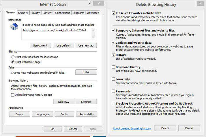 Deleting Browser History Cookies The Blue Door